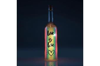 Iridescent Wishlight Bottle - Love is Love