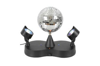 Rotating Disco Ball w/ LED Spotlights
