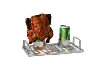 Coyote Chick 'n' Brew BBQ Roaster Stainless Steel - Twin