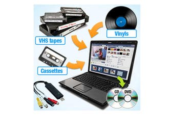 QuickCapture VHS/Tape/Vinyl to DVD/CD Converter