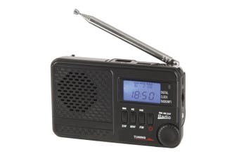 TechBrands AM/FM/SW Rechargeable Radio w/ MP3