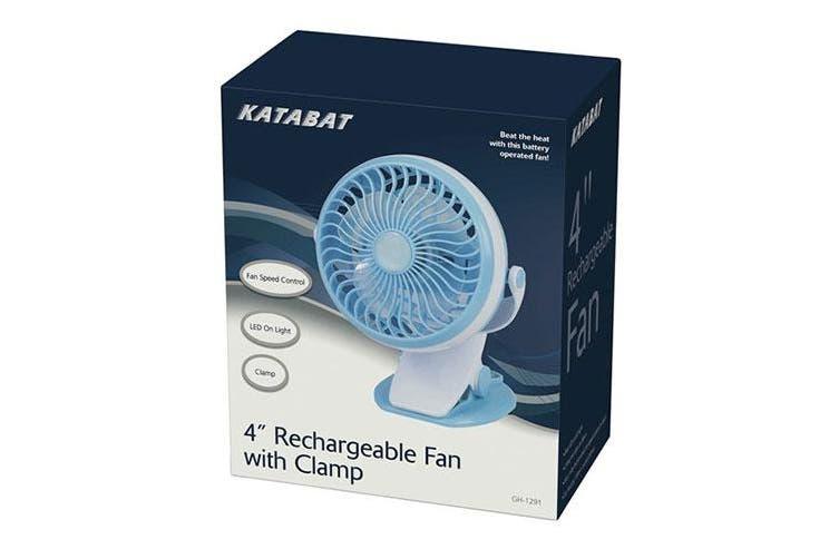 TechBrands Mini Rechargeable Fan w/ Clamp Mount