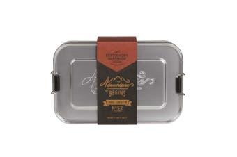 Gentlemen's Hardware Large Aluminium Lunch Tin (Silver)