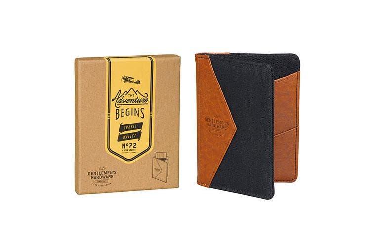 Gentlemen's Hardware Charcoal Canvas Wallet - Travel