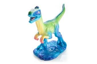 Dino Island Rainbow Raptor Table Lamp