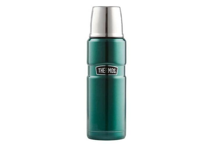 Thermos 470mL Stainless Steel King Vacuum Insulated Flask - Green