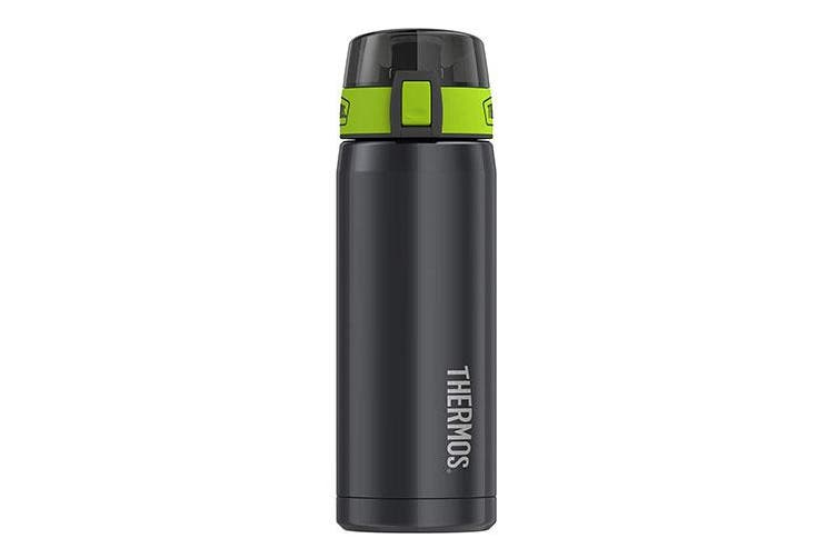 Thermos 530mL S/Steel Vacuum Insulated Hydration Bottle - Smoke/Lime