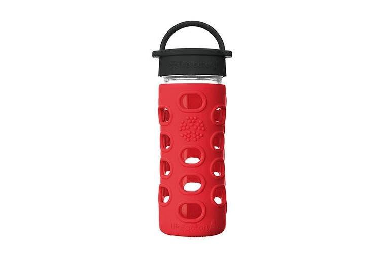LifeFactory 350mL Classic Cap Bottle - Apple Red