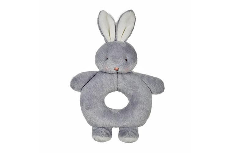 Bunnies By The Bay Ring Rattle Bunny - Grey
