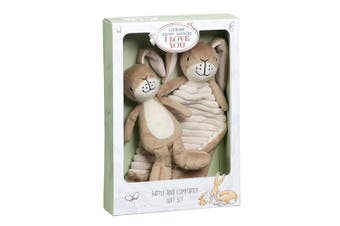 Guess How Much I Love You Nutbrown Hare Blanket & Rattle
