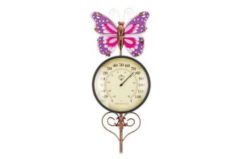 Regal Garden Decor Thermometer Stake - Butterfly