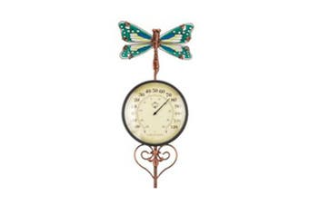 Regal Garden Decor Thermometer Stake - Dragonfly