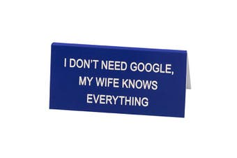 Say What Desk Sign Small - Wife Knows All