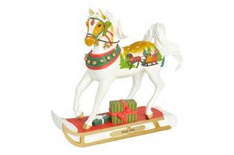 Painted Ponies Christmas Figurine - Sleigh Ride