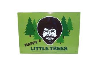 Bob Ross Little Trees Tin Sign