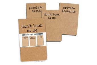 Archie McPhee Introvert Notebooks Set of 3
