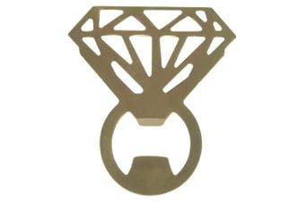 Gamago Bling Ring Bottle Opener Gold