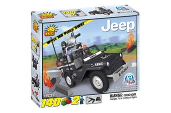 Action Town 140 Piece Willys MB Jeep Police SWAT Car Set