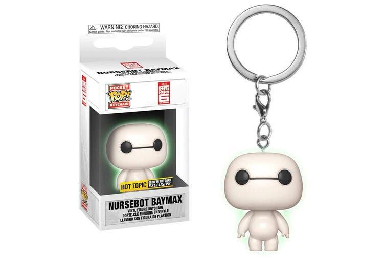 Big Hero 6 Nursebot Baymax Glow US Pocket Pop! Keychain