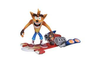 "Crash Bandicoot Hoverboard Crash 7"" Action Figure"
