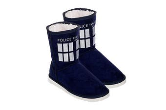 Doctor Who TARDIS Boot Slipper Ladies