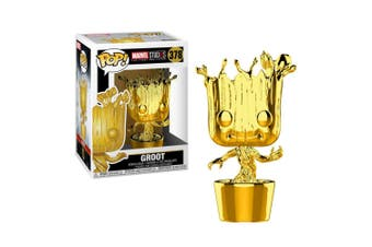 Marvel Studios 10th Anniversary Groot Gold Chrome Pop! Vinyl