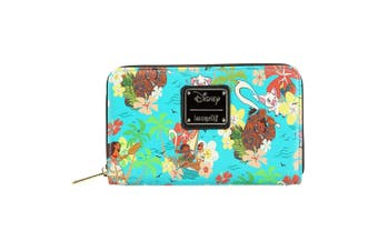 Moana Floral Zip-Around Wallet