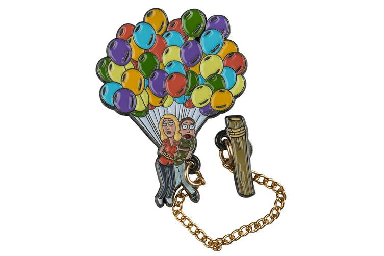 Rick and Morty Jerry & Beth Floating Enamel Pin