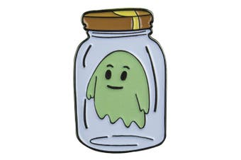 Rick and Morty Ghost in a Jar Glow-in-the-Dark Enamel Pin