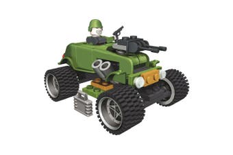 Small Army 60 Piece Alpha Military Vehicle Construction Set