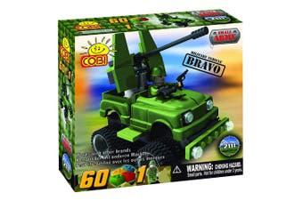 Small Army 60 Piece Bravo Military Vehicle Construction Set