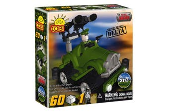 Small Army 60 Piece Delta Military Vehicle Construction Set