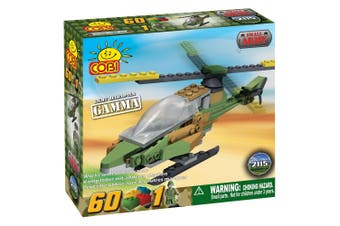 Small Army 60pc Gamma Military Helicopter Construction Set