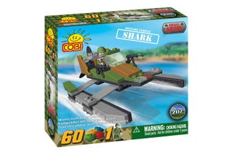 Small Army 60 Piece Shark Military Vehicle Construction Set