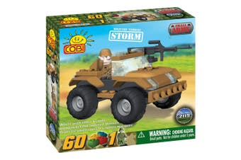 Small Army 60 Piece Storm Military Vehicle Construction Set