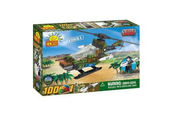 Small Army 100pc Cobra Military Helicopter Construction Set