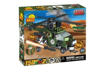 Small Army 150pc Vulcan Military Helicopter Construction Set