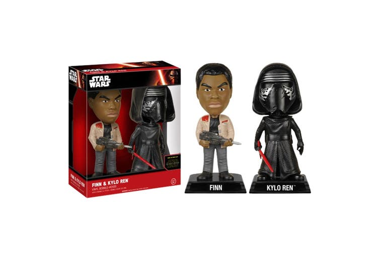 Star Wars Finn/Kylo Ren 7 Force Awakens US Wacky Wobbler 2Pk