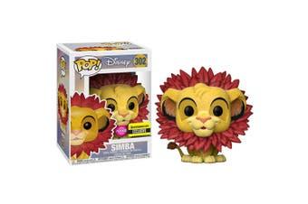 The Lion King Simba (Leaf Mane) Flocked US Pop! Vinyl