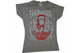 True Blood Fangbanger Flocked Female T-Shirt - XL