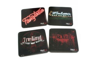 True Blood Coaster Set of 4 Black (Series 2)