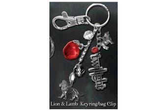 Twilight Keyring / Bag Clip (Lion & Lamb)