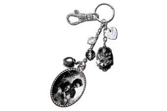 Twilight Keyring / Bag Clip Charm (Edward & Bella)