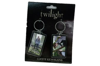 Twilight Lucite Keychain 2 Pk Set 5 (Ed and Bella Forest)