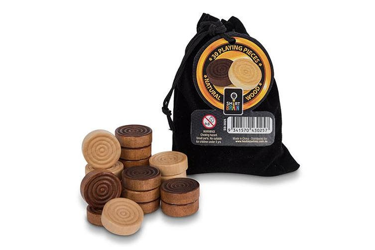 Smart Brain Natural Wood Draught Pieces in Bag