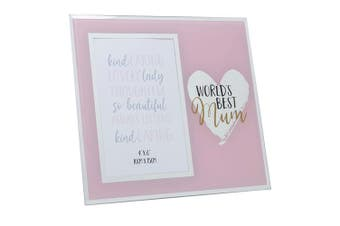 Mothers Day Gifts World's Best Mirror Photo Frame - Mum
