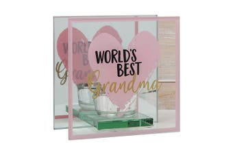Mothers Day World's Best Glass Tealight Holder - Grandma