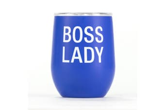 Say What Insulated Wine Tumbler - Boss Lady
