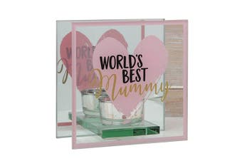 Mothers Day World's Best Glass Tealight Holder - Mummy