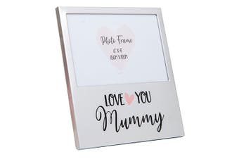 Mothers Day Gifts Love You Aluminium Photo Frame - Mummy